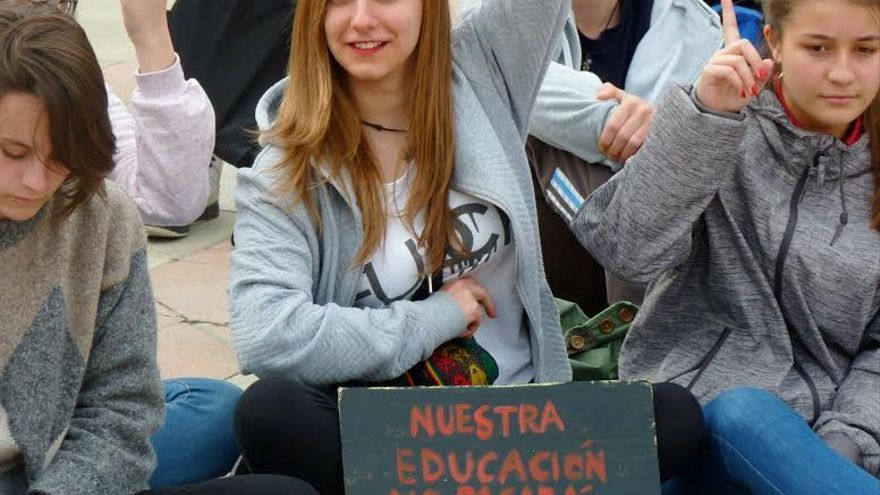 Estudiantes huelga