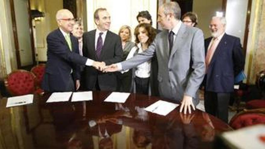 PSOE, PP, CiU y PNV acuerdan los objetivos de la Presidencia de la UE
