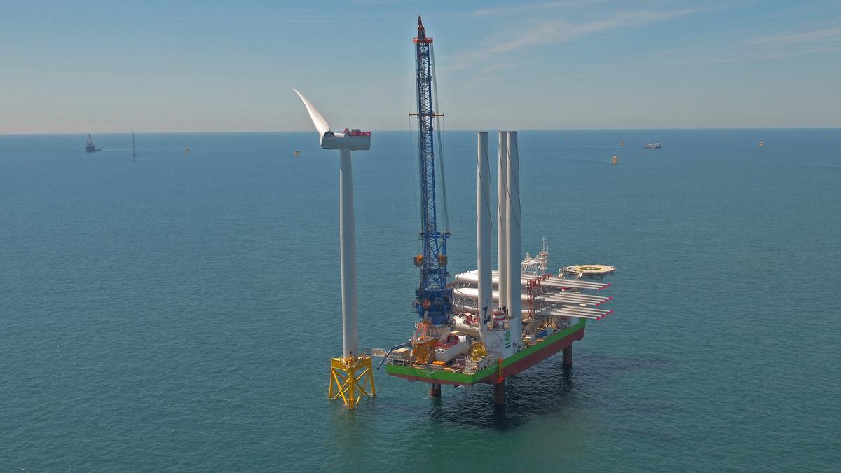 Proyecto de aerogenerador eólico de Iberdrola.