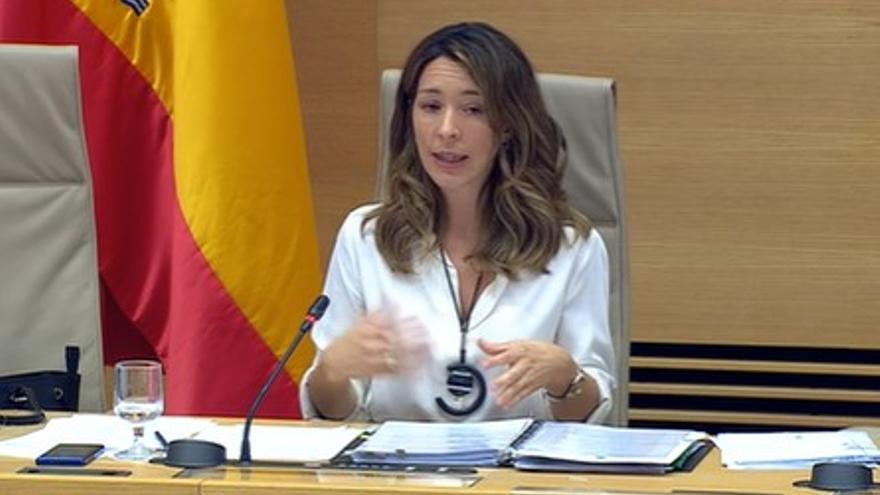 La secretaria de estado de comercio, Xiana Méndez, durante la comparecencia de este lunes.