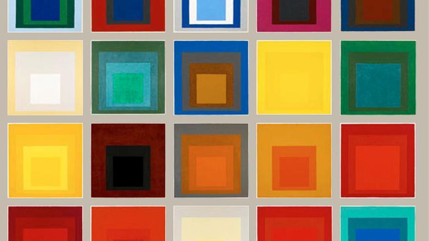 Joseph Albers, six squares