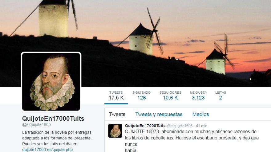 Cuenta de Twitter 'El Quijote en 17.000 tuits'