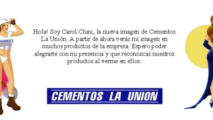 Campaña de Cementos La Unión que figura en el informe del Observatorio de la Imagen de las Mujeres, 2006