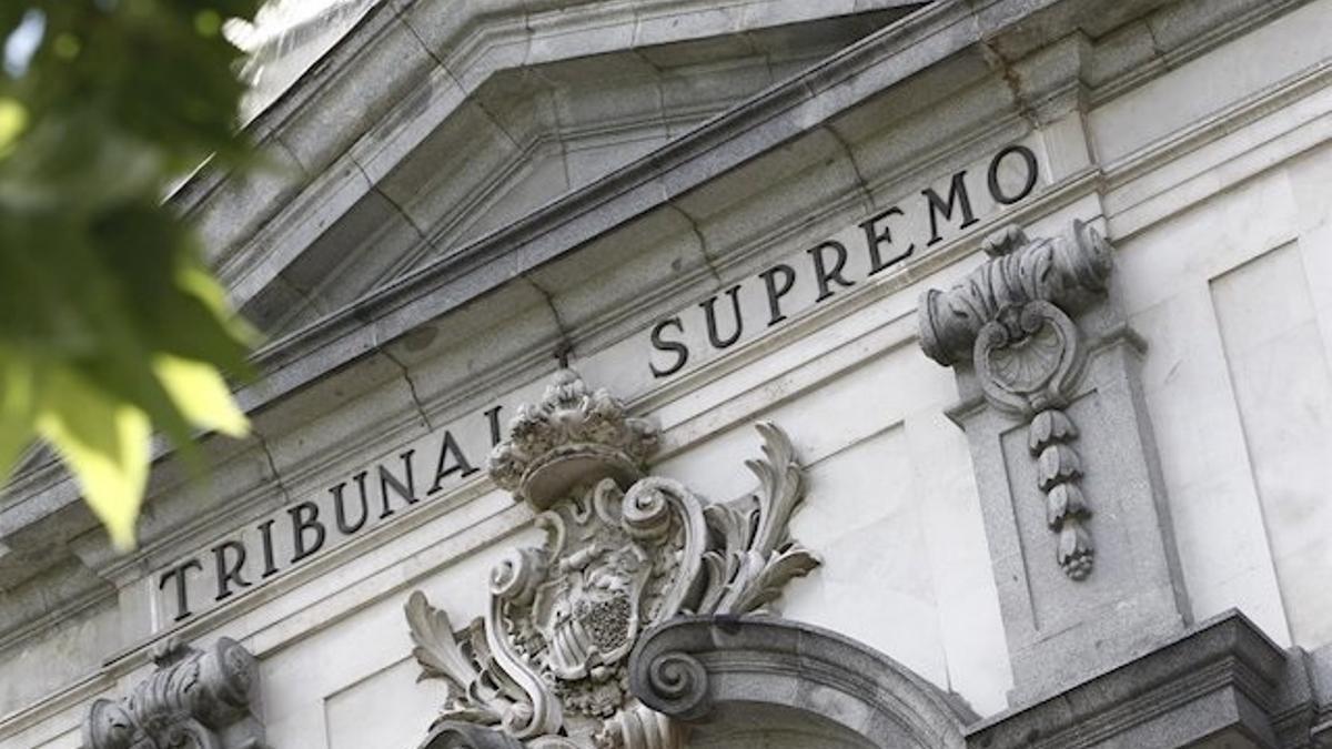 Archivo - Fachada de la sede del Tribunal Supremo.