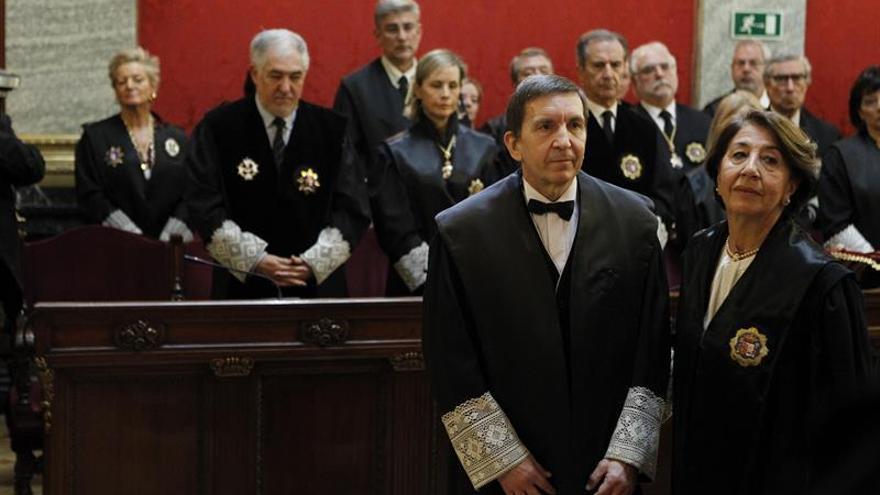 Manuel Moix, durante su toma de posesión como fiscal Anticorrupción.