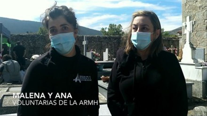 VIDEO |  ARMH volunteers, in the El Espinar grave