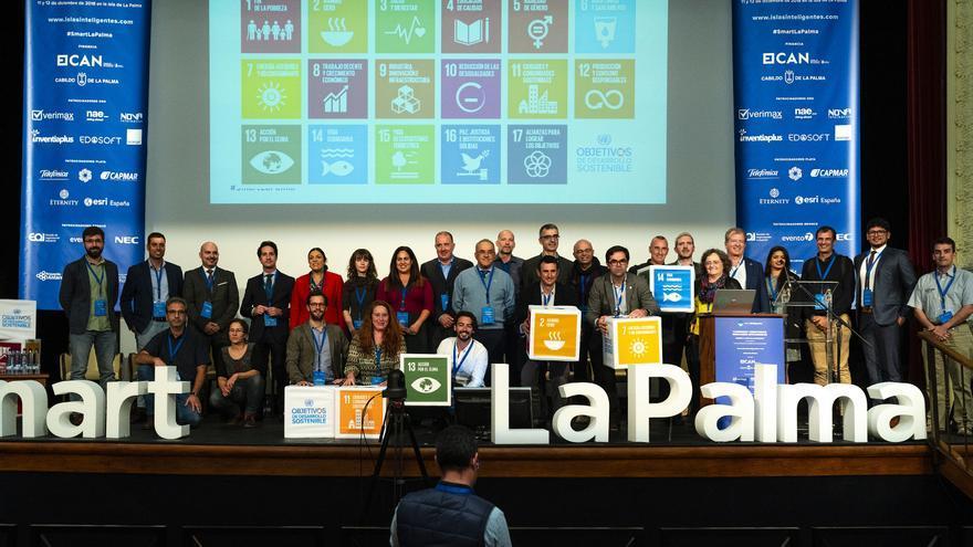 Ponentes del lII Congreso de 'Territorios Insulares Inteligentes' celebrado en La Palma.