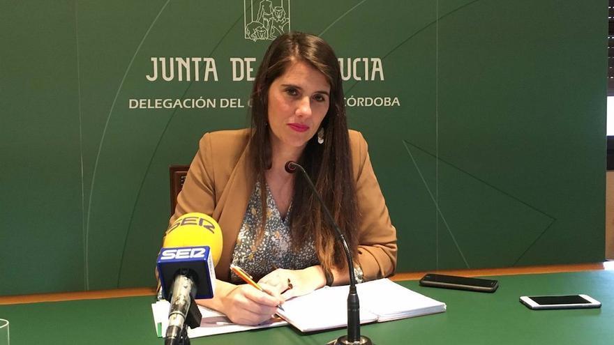 La delegada de Agricultura, Ganadería, Pesca y Desarrollo Sostenible, Araceli Cabello, en rueda de prensa.