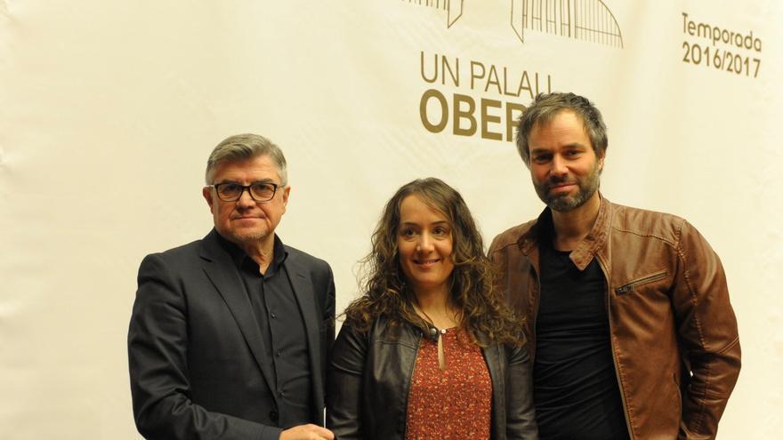 Glòria Tello junto a Vicent Ros y Josep Vicent