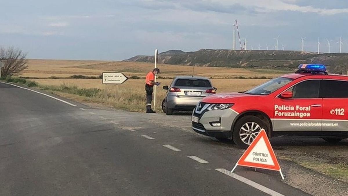 Control de la Policía Foral de Navarra
