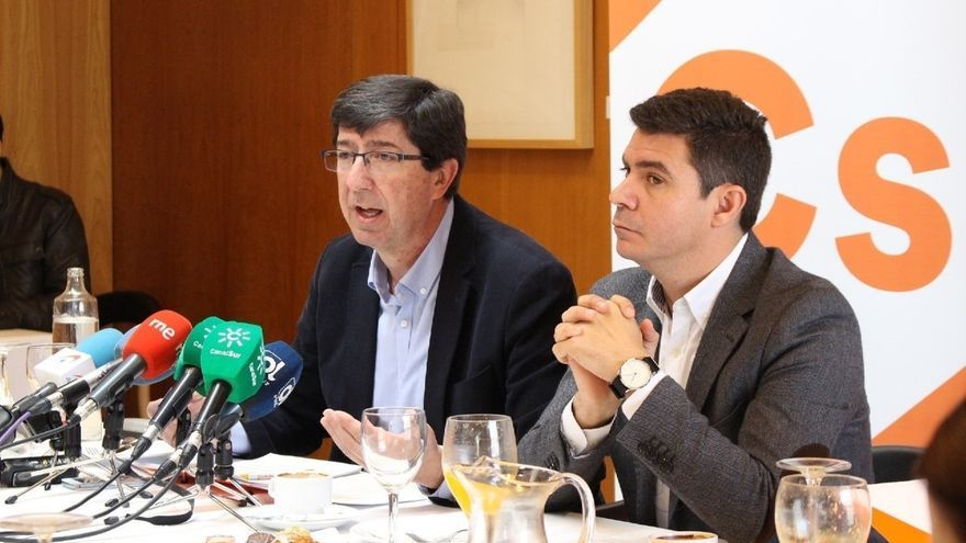 Juan Marín cree que el avance y la gestión de Cs en Andalucía le avalan para repetir como candidato a la Junta