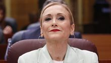 La presidenta madrileña, Cristina Cifuentes, en la Asamblea de Madrid, el 22 de marzo de 2018.