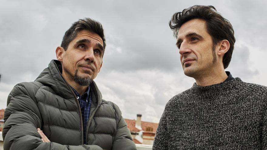 Juan y Javier Gallego, durante la entrevista con eldiario.es