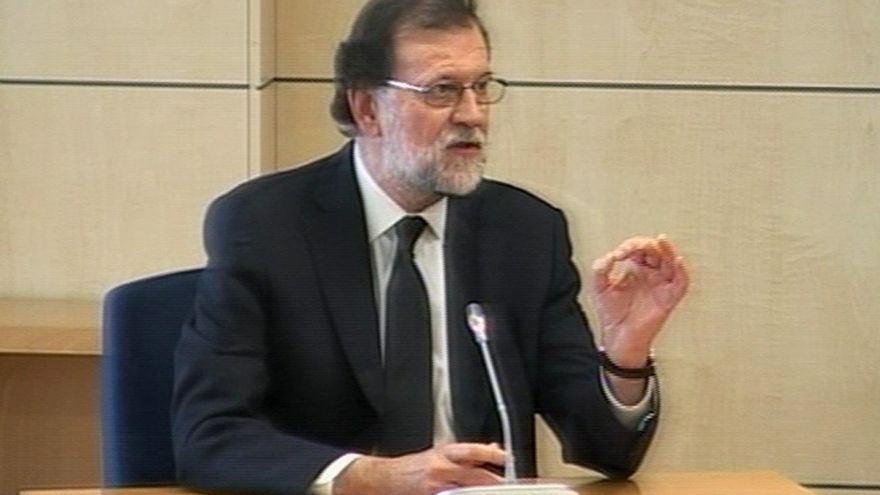 Mariano Rajoy en la Audiencia Nacional.