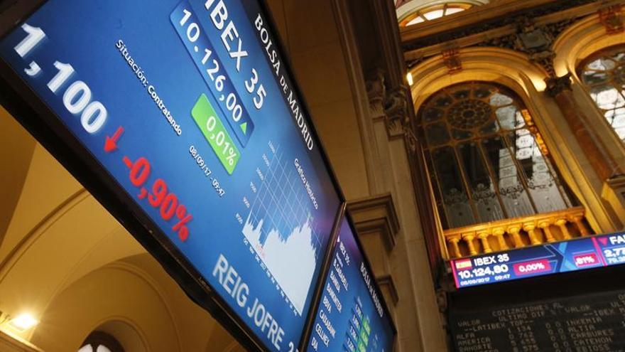 La Bolsa española mantiene los 10.300 puntos pese a caer un 0,11 %