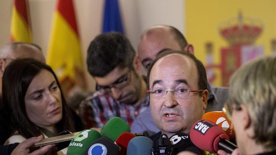 """Iceta advierte a Puigdemont que """"un referéndum ilegal no lleva a ningún sitio"""""""
