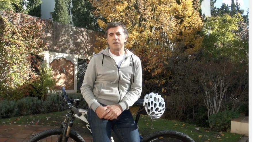Captura de pantalla del vídeo de Perico Delgado.