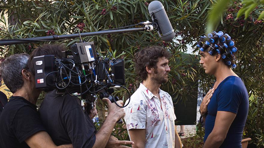 Raúl Arévalo y Álex González en el rodaje de 'Hablar' / Foto: Alejandro Navarro