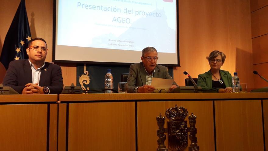 Acto de inauguración de la jornada de presentación y difusión de las actividades del proyecto europeo Plataforma para la Gestión de Riesgos en el Área Atlántica.