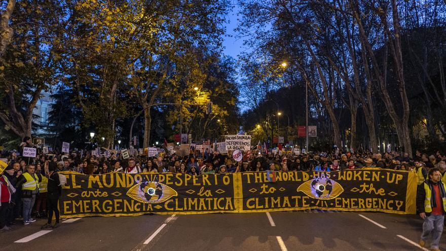 Cabecera de la Marcha por el Clima en Madrid