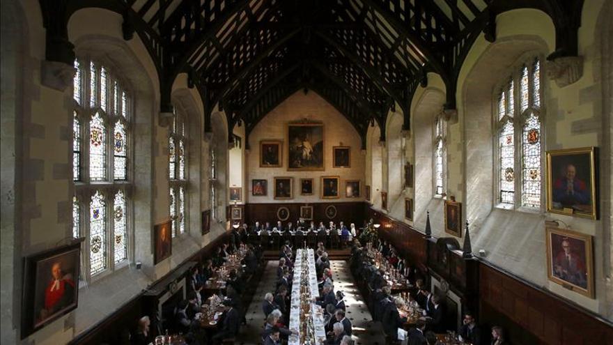 Vista general del Exeter College de la universidad de Oxford.