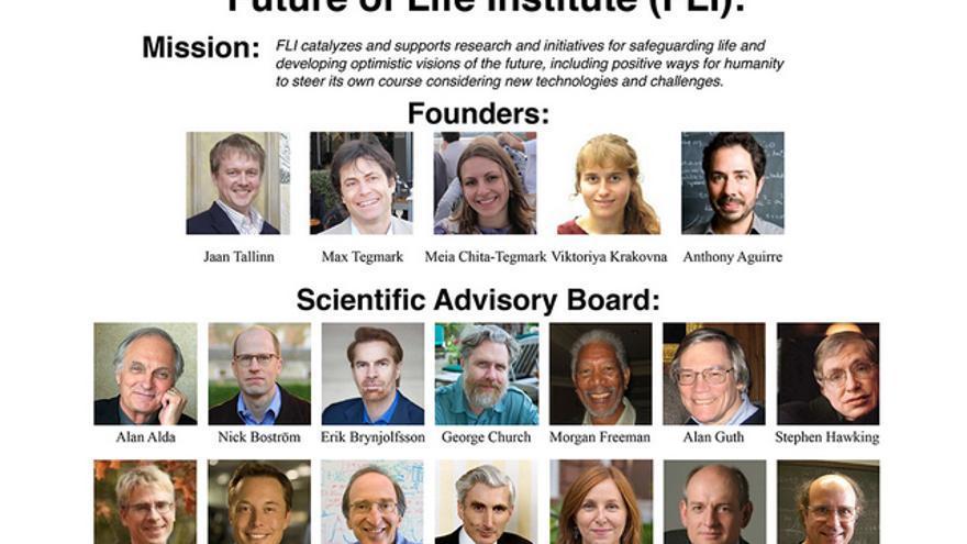 Miembros del Instuto del Futuro de la Vida