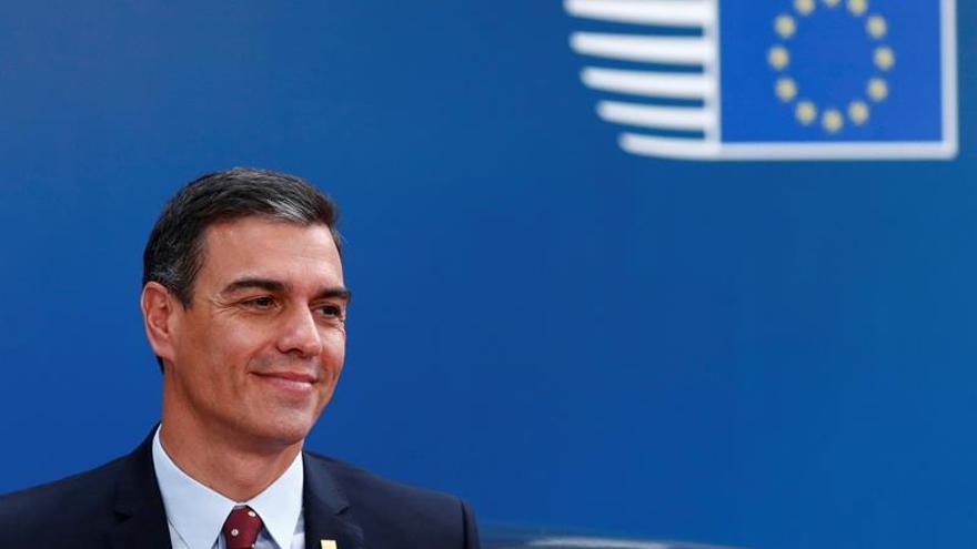 Pedro Sánchez en Bruselas, donde asiste al Consejo Europeo Extraordinario.
