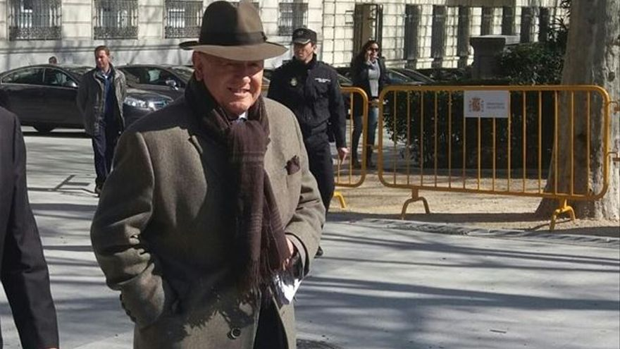 El exjefe de Asuntos Internos de la Policía Nacional Marcelino Martín-Blas, el día de su comparecencia en la Audiencia Nacional.