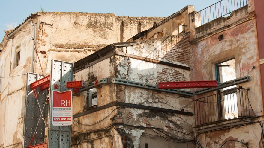 Edificio en ruinas de la Plaza de San José.