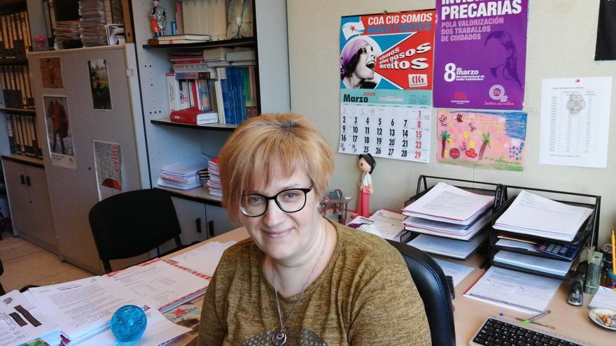 Verónica Pena, auxiliar de cuidados de Axuda no Fogar.