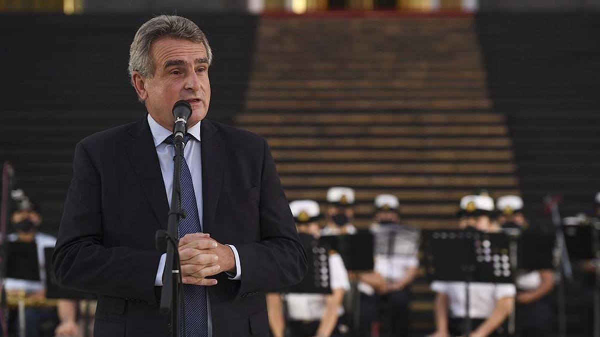 El ministro de Defensa, Agustín Rossi