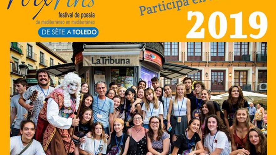 Cartel del I Encuentro de Poetas y Voluntarios Jóvenes del Festival Voix Vives