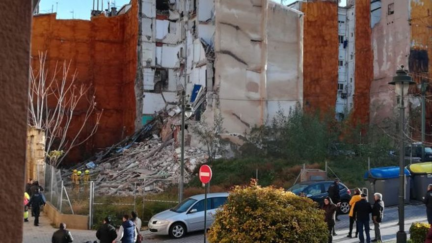El edificio derruido en la localidad de Alcoi.