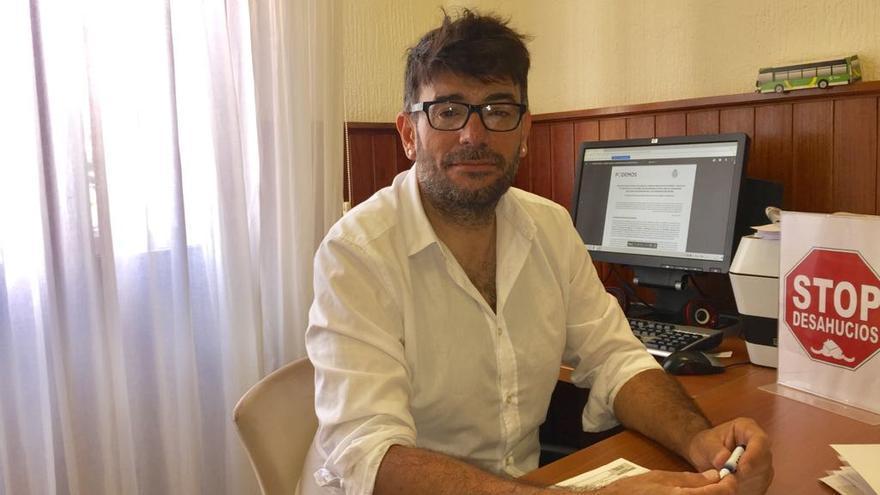 Julio Concepción, consejero de Podemos en el Cabildo de Tenerife, en una imagen reciente