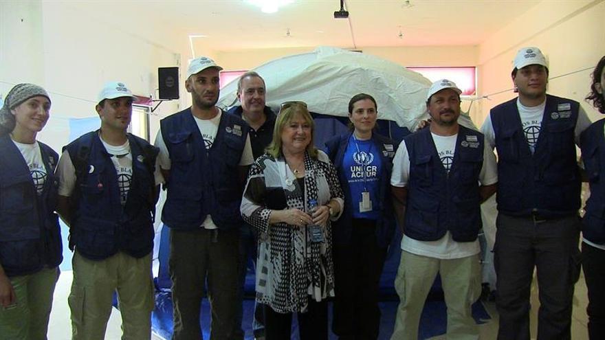 Los Cascos Blancos argentinos extienden su misión a los refugiados sirios del Líbano