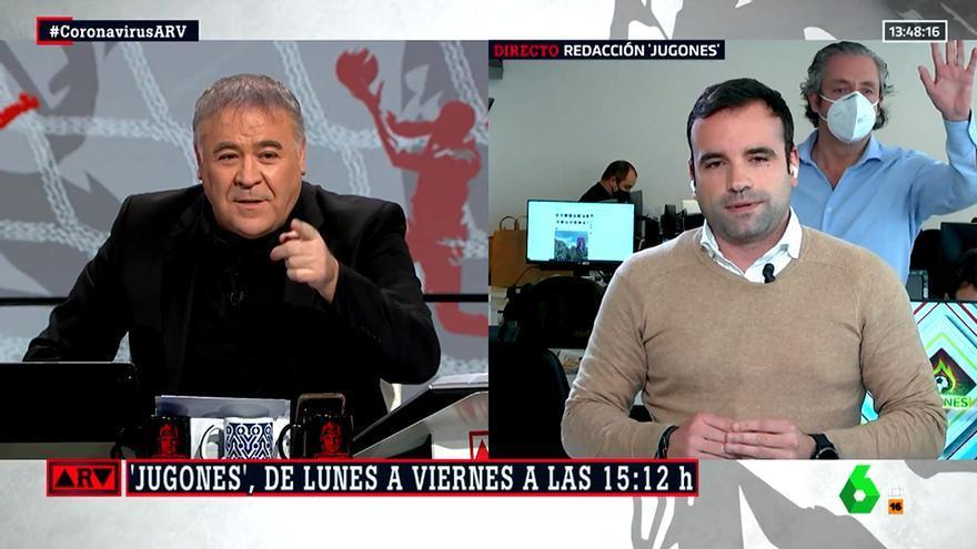 Josep Pedrerol se cuela en 'Al rojo vivo'
