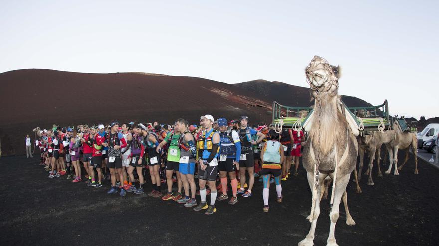 Imagen de la salida de la Haría Extreme de Lanzarote.