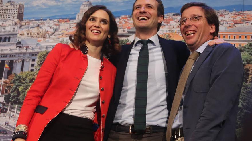 Díaz Ayuso, Casado y Martínez Almeida