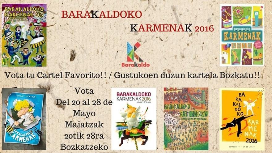 Comienzan las votaciones populares para elegir el cartel anunciador de las fiestas de El Carmen 2016 de Barakaldo