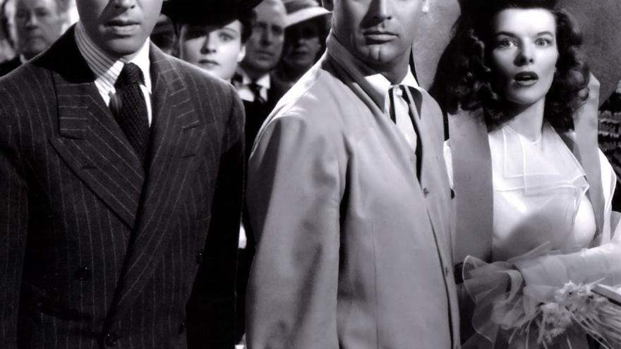 James Stewart, Cary Grant y Katherine Hepburn en 'Historias de Filadelfia'
