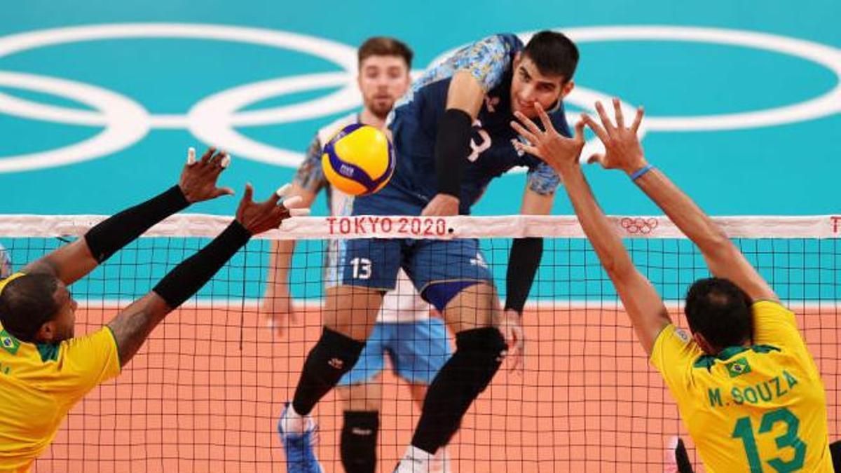 Argentina lo tuvo a Brasil, último campeón olímpico, al borde del nocaut.