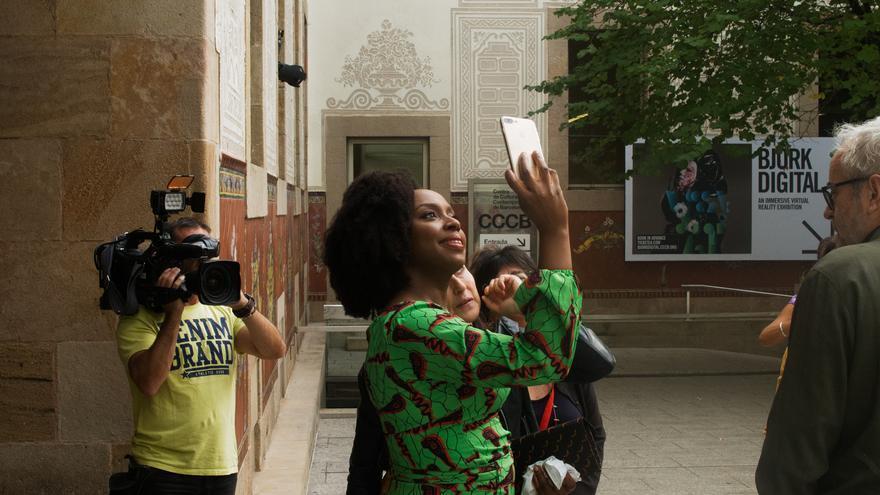 Chimamanda Ngozi Adichie en el CCCB. Foto de Rubén H. Bermúdez.