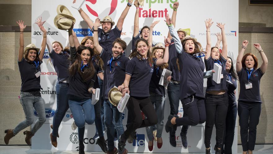 Ganadores de la tercera edición de Jumping Talent. / Foto: Universia