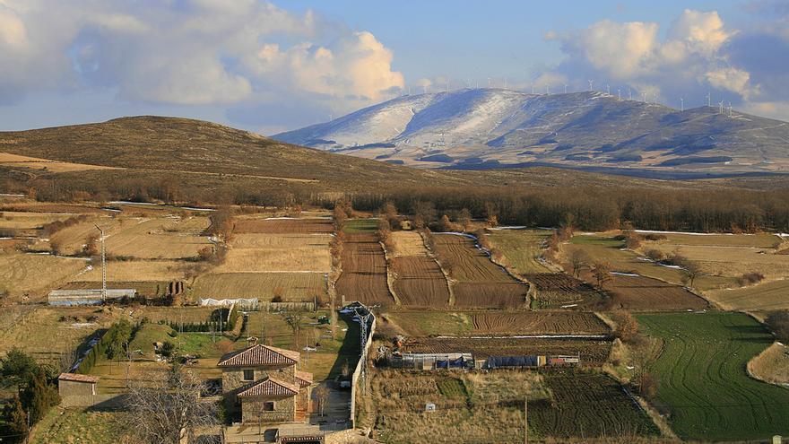 La sierra del Moncayo desde Agreda. Miguel Ángel García