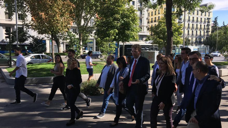 El alcalde y diputado del PDeCAT Ferrán Bel llega a la Fiscalía del Supremo
