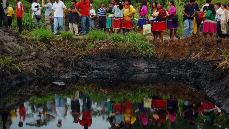 Una de las zonas afectadas por la actividad de la petrolera Texaco.