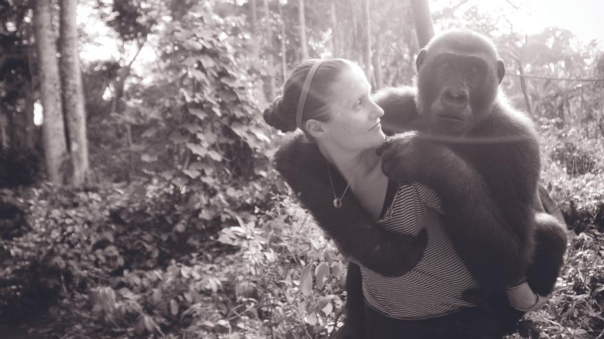 Rachel y Shai, Ape Action Africa, Camerún, 2009. Foto: Jo-Anne McArthur