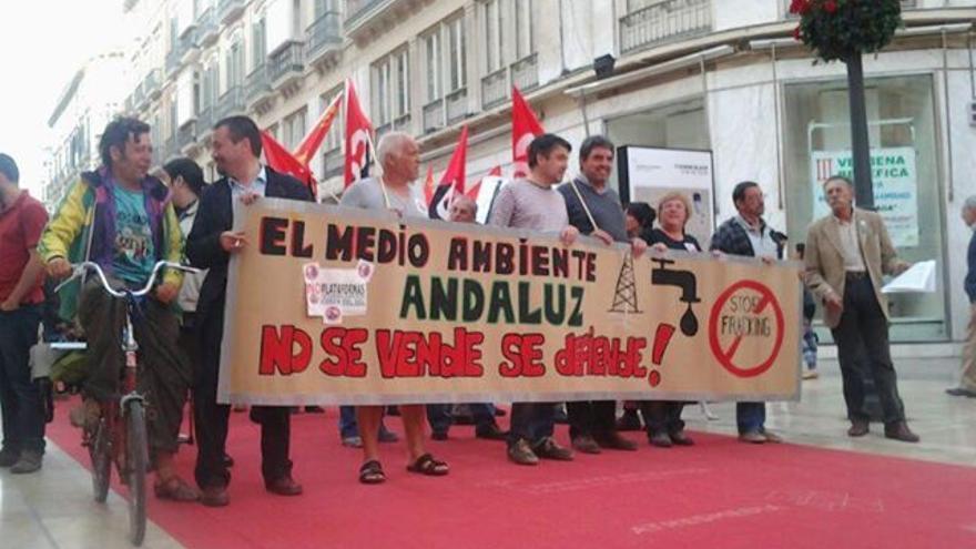 Manifestación contra el fracking en Andalucía