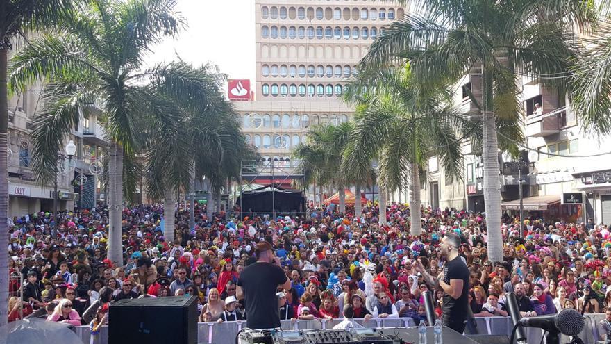 Plaza de la Candelaria, en un Carnaval de Día de ediciones anteriores