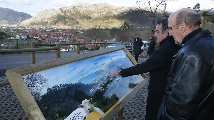 Turismo acondiciona la zona de descanso del Mirador de La Varga de Tarriba